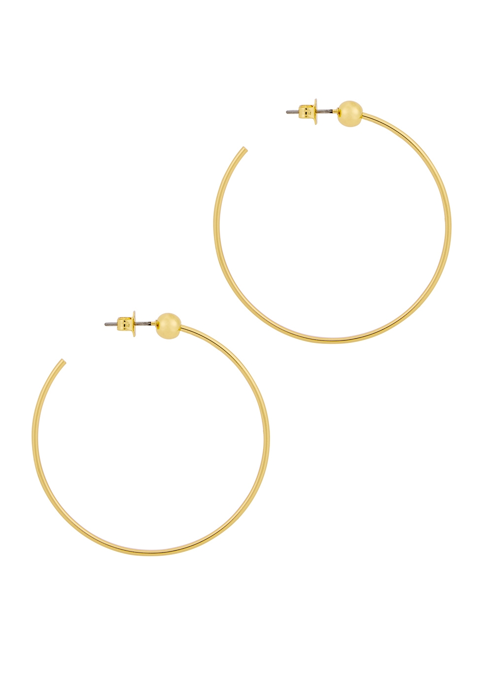 Icon small 14kt gold-dipped earrings - JENNY BIRD