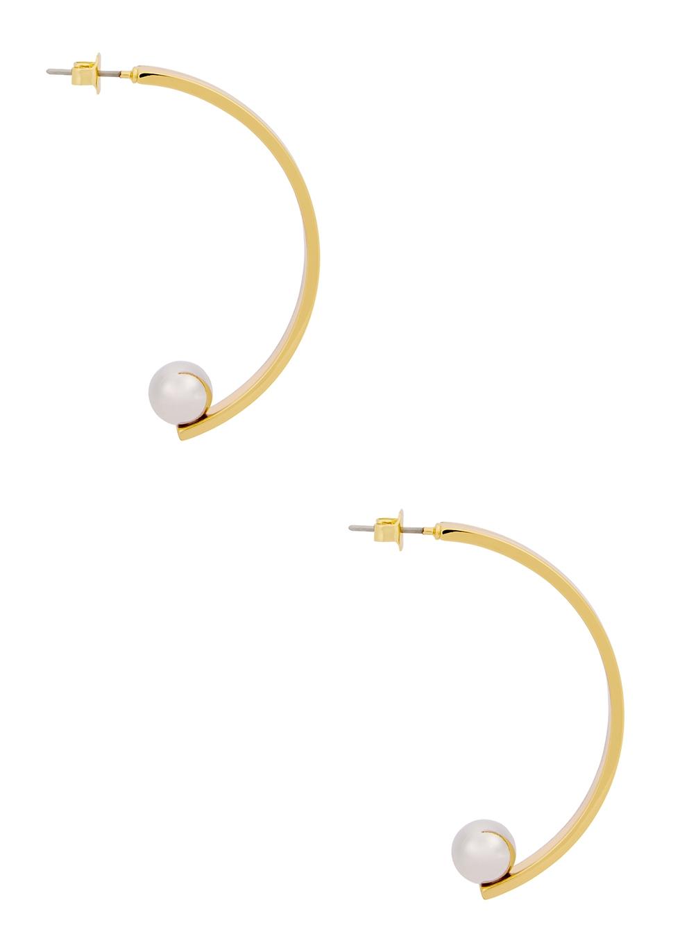 Vela 14kt gold-dipped earrings - JENNY BIRD