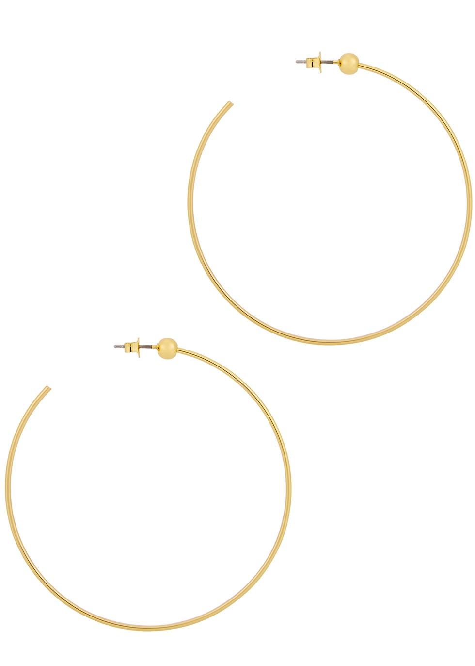 Icon medium 14kt gold-dipped earrings - JENNY BIRD