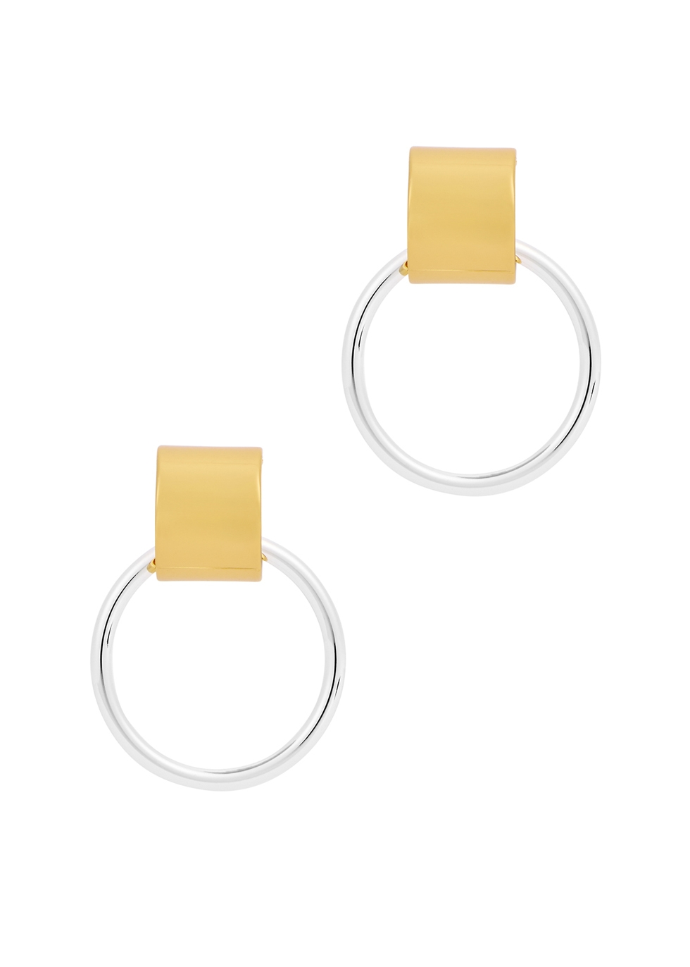 Faye Knocker two-tone earrings