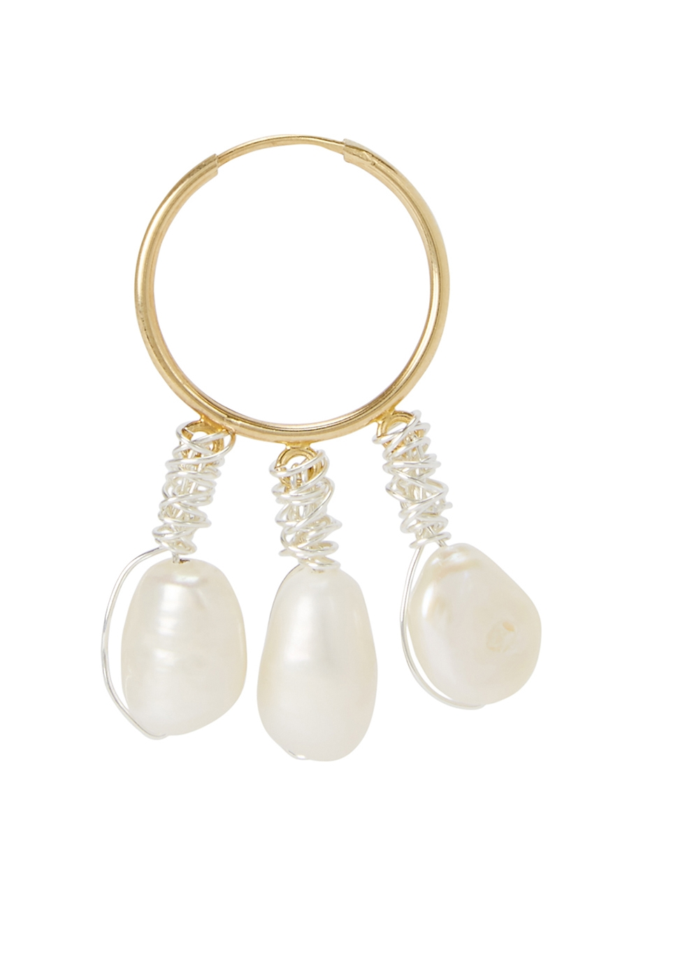 Chouchou pearl and gold-plated earring - WALD Berlin