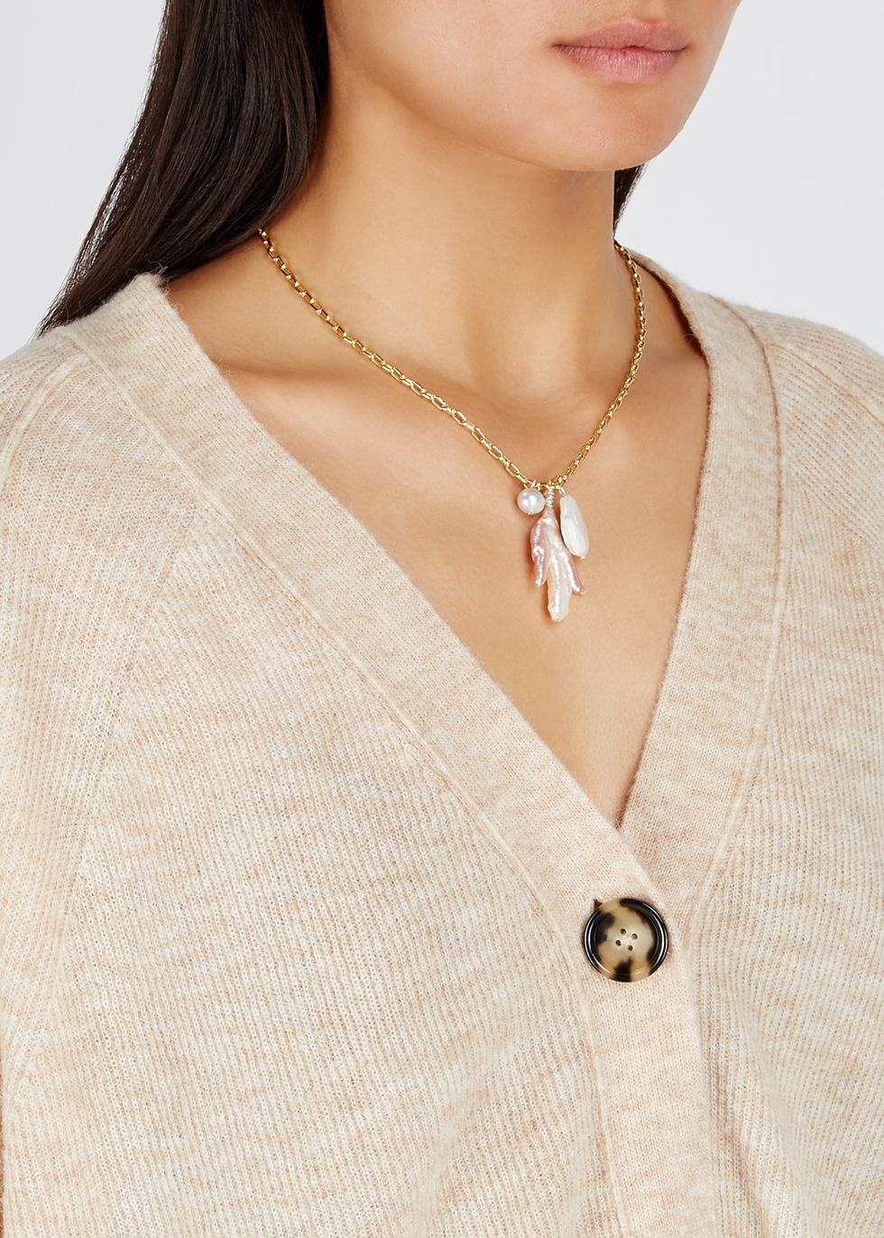 La Rêve gold-plated necklace - WALD Berlin