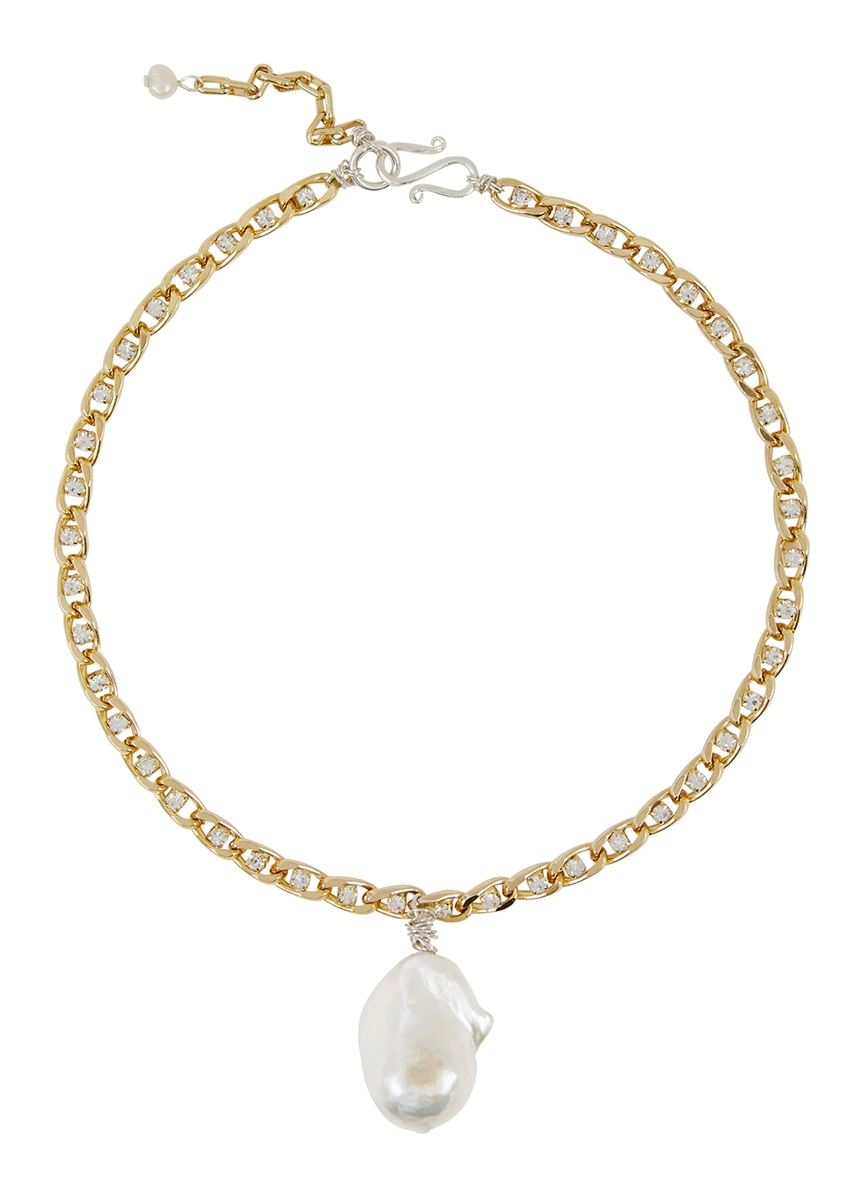60b9ffb5e6dd Le Chic 18kt gold-plated choker ...