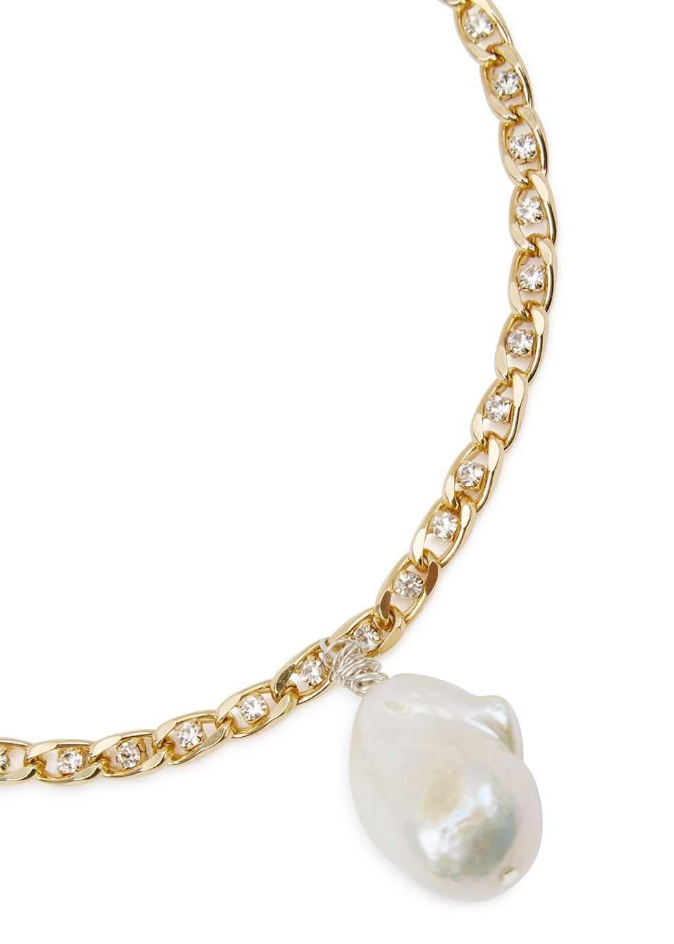 Le Chic 18kt gold-plated choker - WALD Berlin