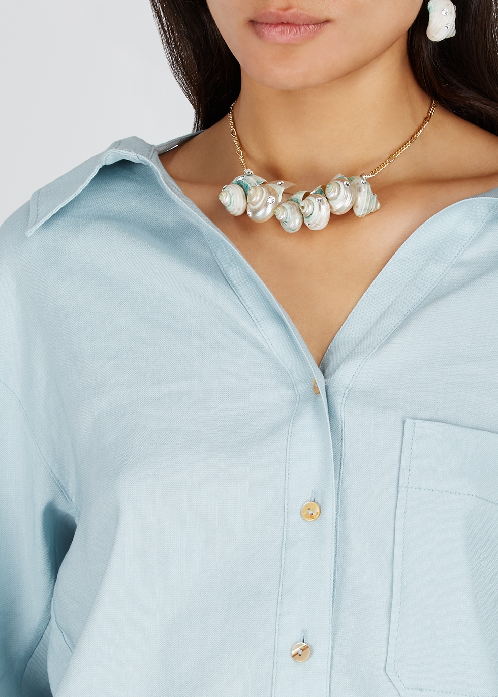 Paris Paris shell gold-plated necklace - WALD Berlin