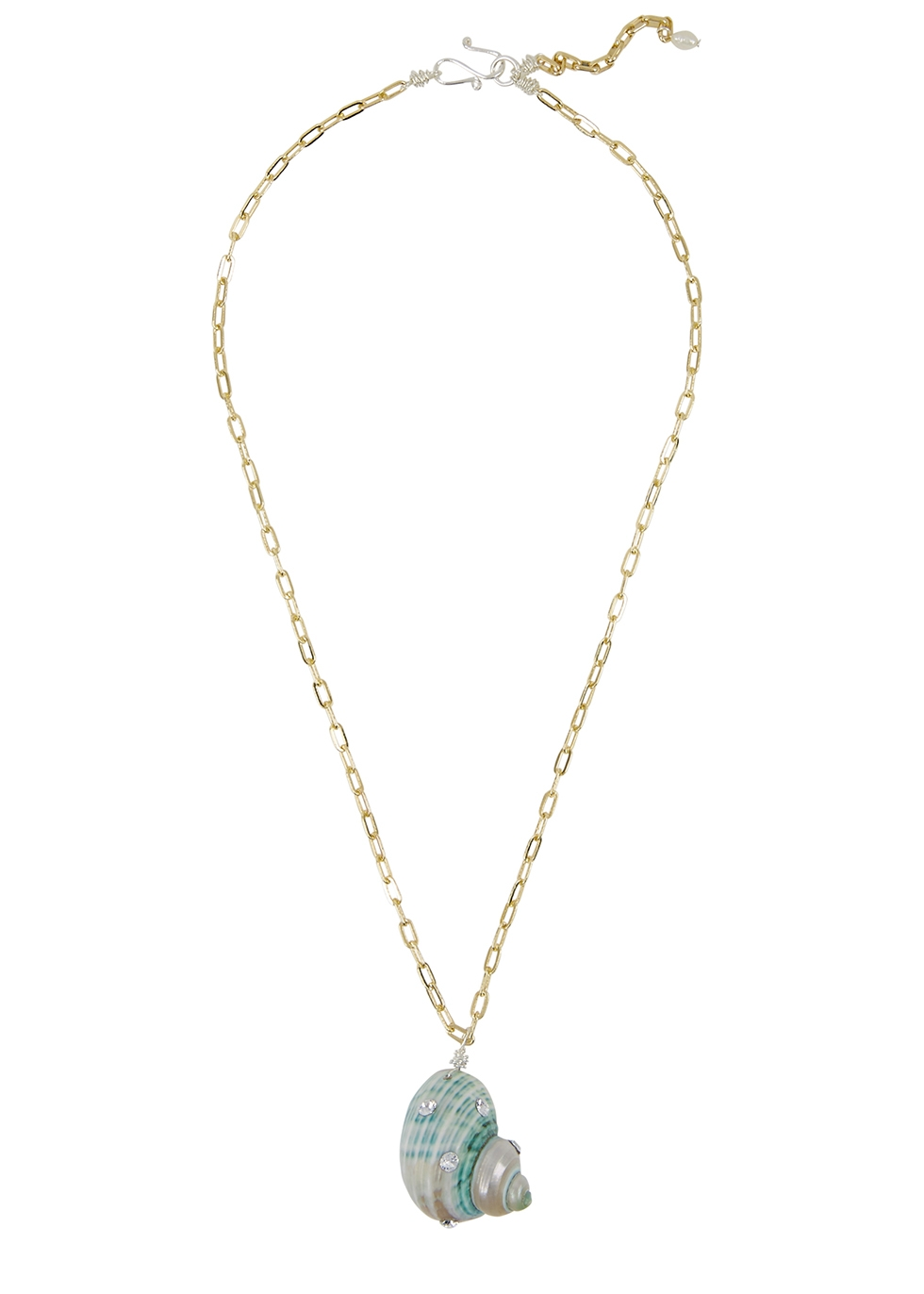 Paris Paris shell gold-plated necklace - WALD Berlin