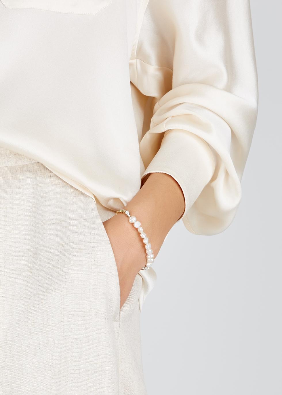 La Vie En Rose pearl gold-plated bracelet - WALD Berlin