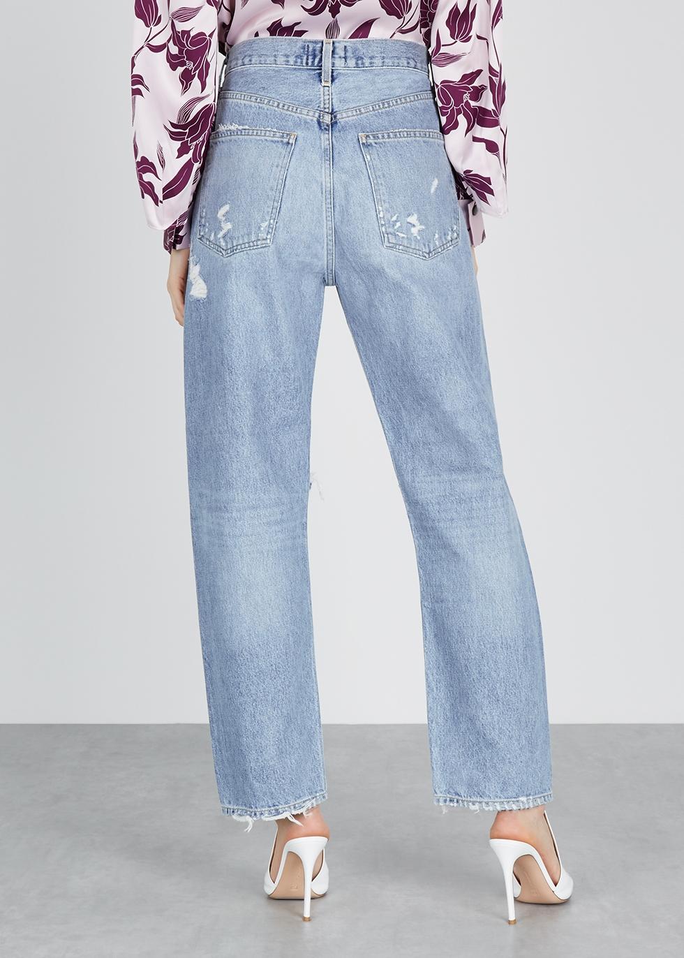 90's distressed boyfriend jeans - AGOLDE