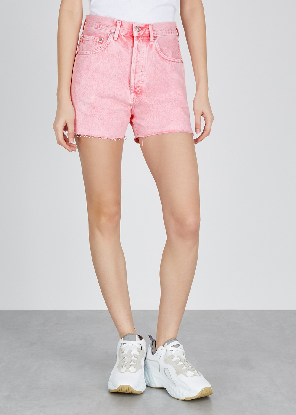 Dee pink denim shorts - AGOLDE