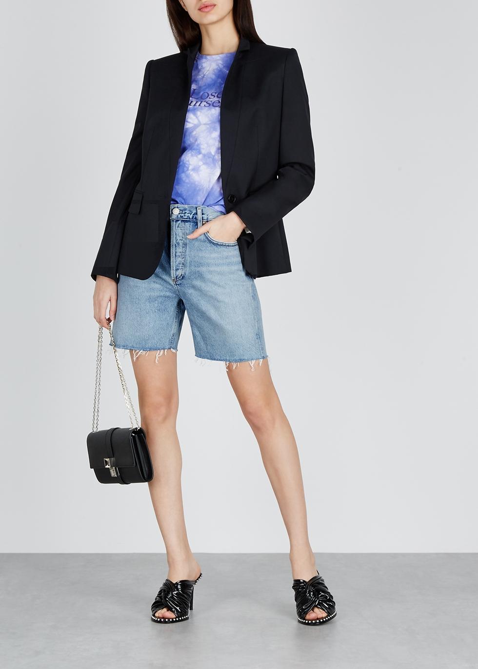 Rumi light blue denim shorts - AGOLDE