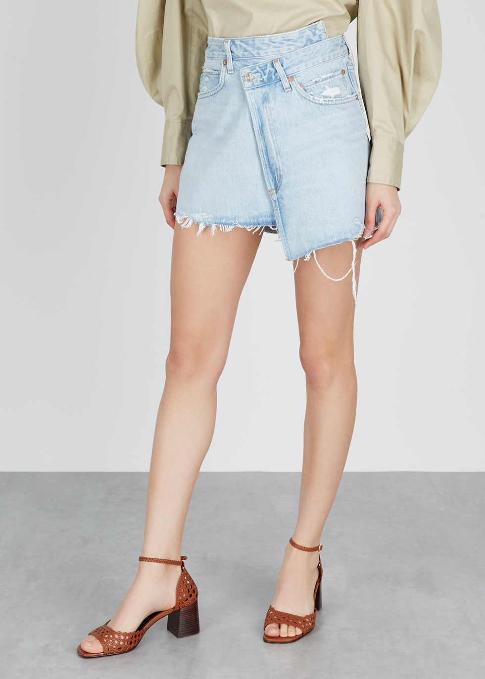 Criss Cross denim wrap skirt - AGOLDE