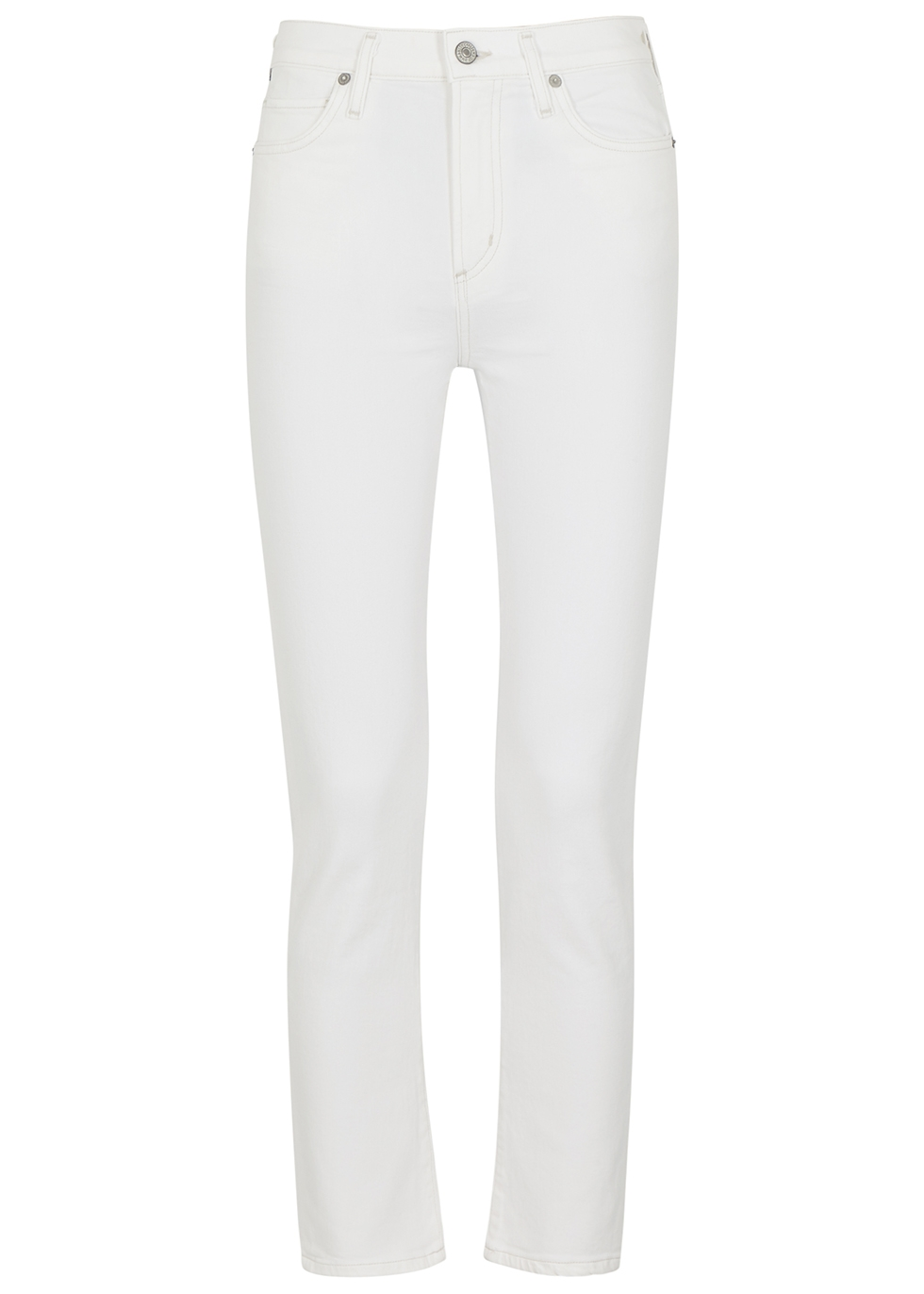 Harlow white slim-leg jeans