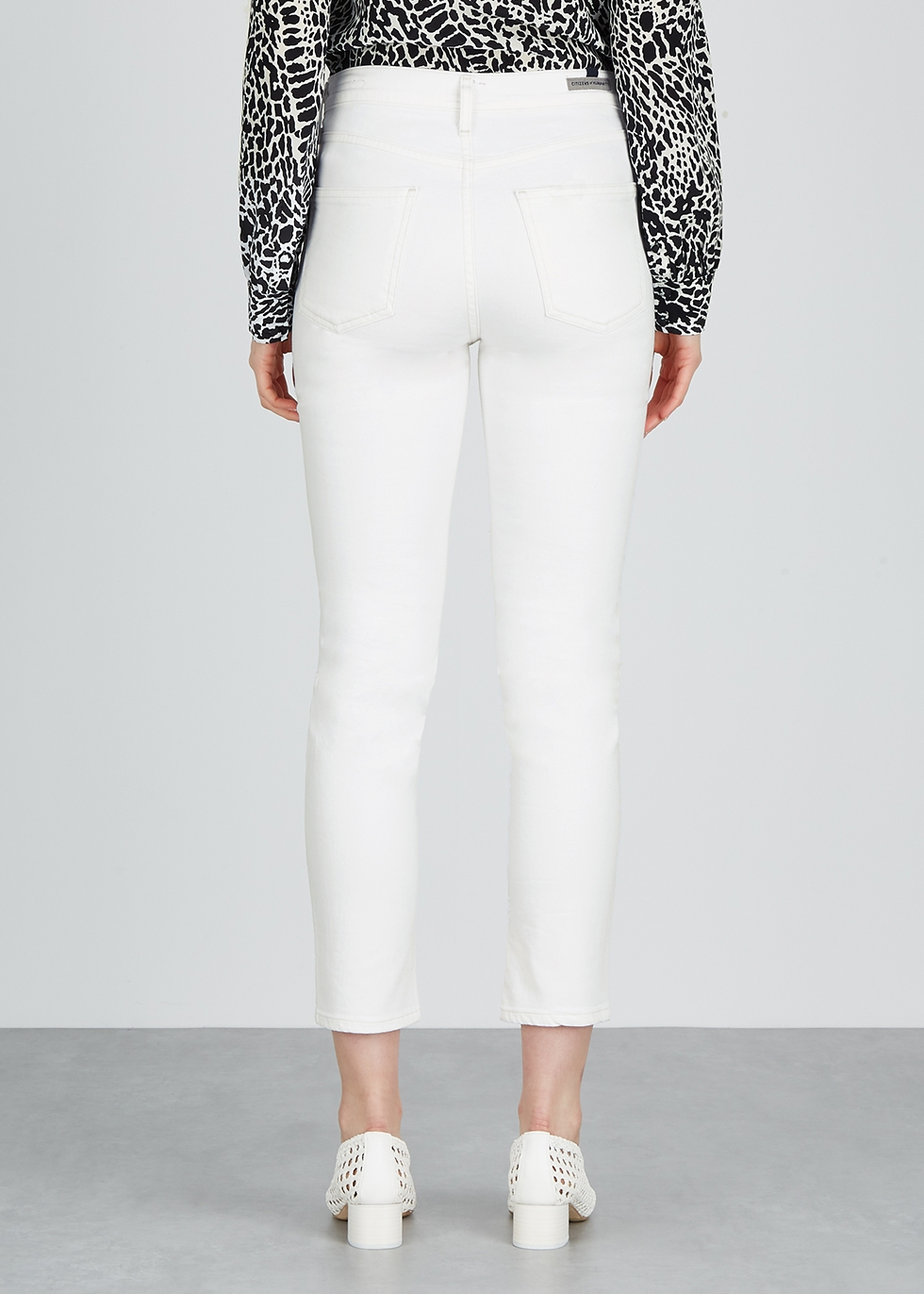 Harlow white slim-leg jeans - Citizens of Humanity