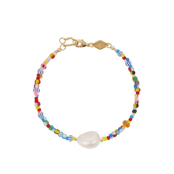 Anni Lu Accessories Alaia Baroque 18kt gold-plated bracelet