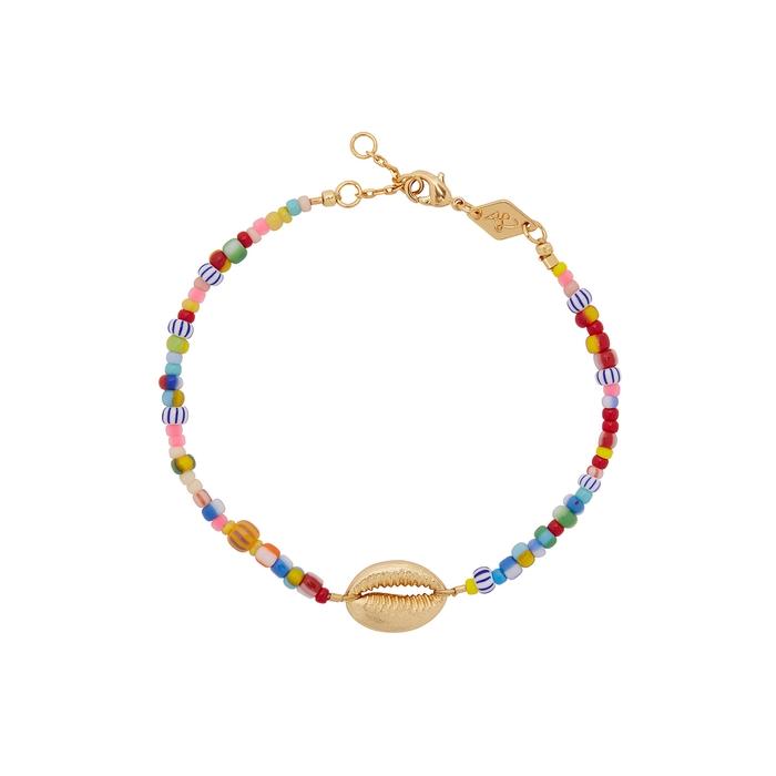 Anni Lu Accessories ALAIA COWRY 18KT GOLD-PLATED BRACELET