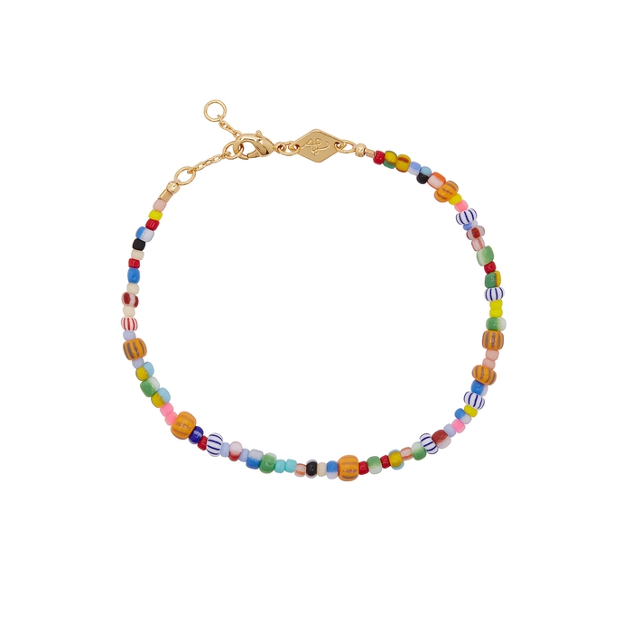 Anni Lu Accessories Alaia 18kt gold-plated beaded bracelet