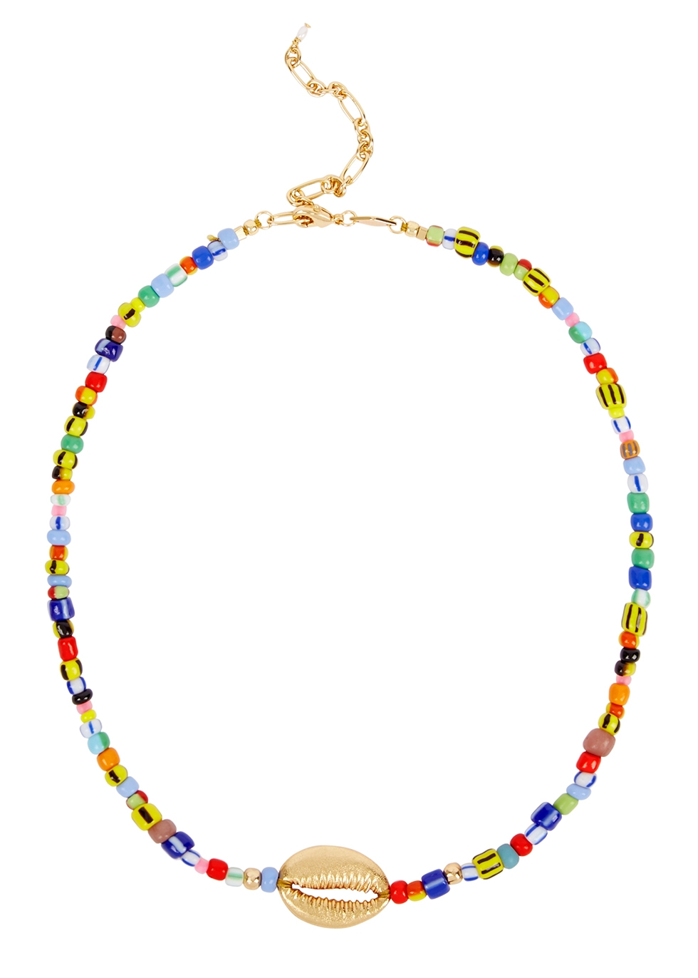 Alaia Cowry 18kt gold-plated necklace - ANNI LU
