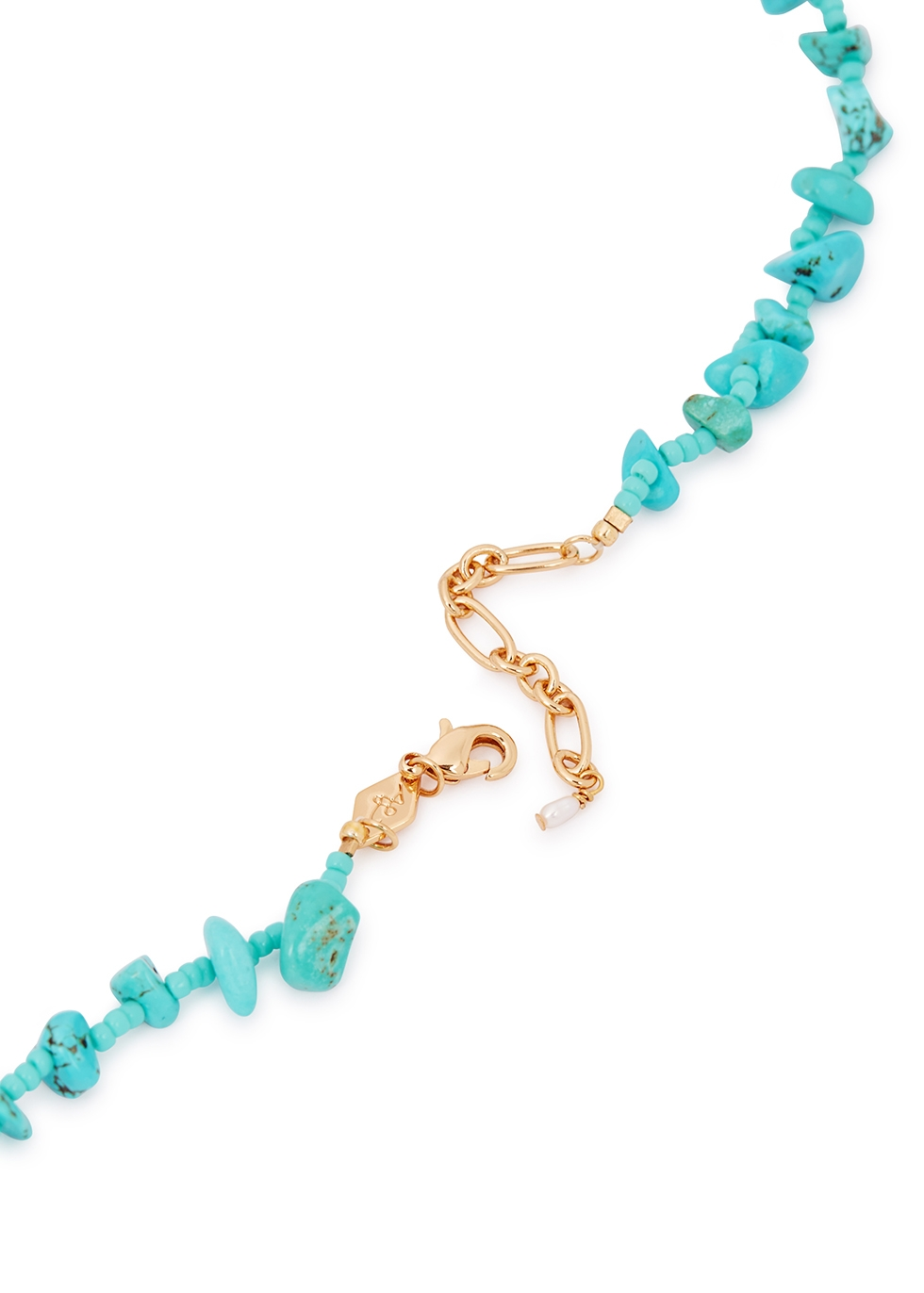 Reef 18kt gold-plated turquoise beaded necklace - ANNI LU