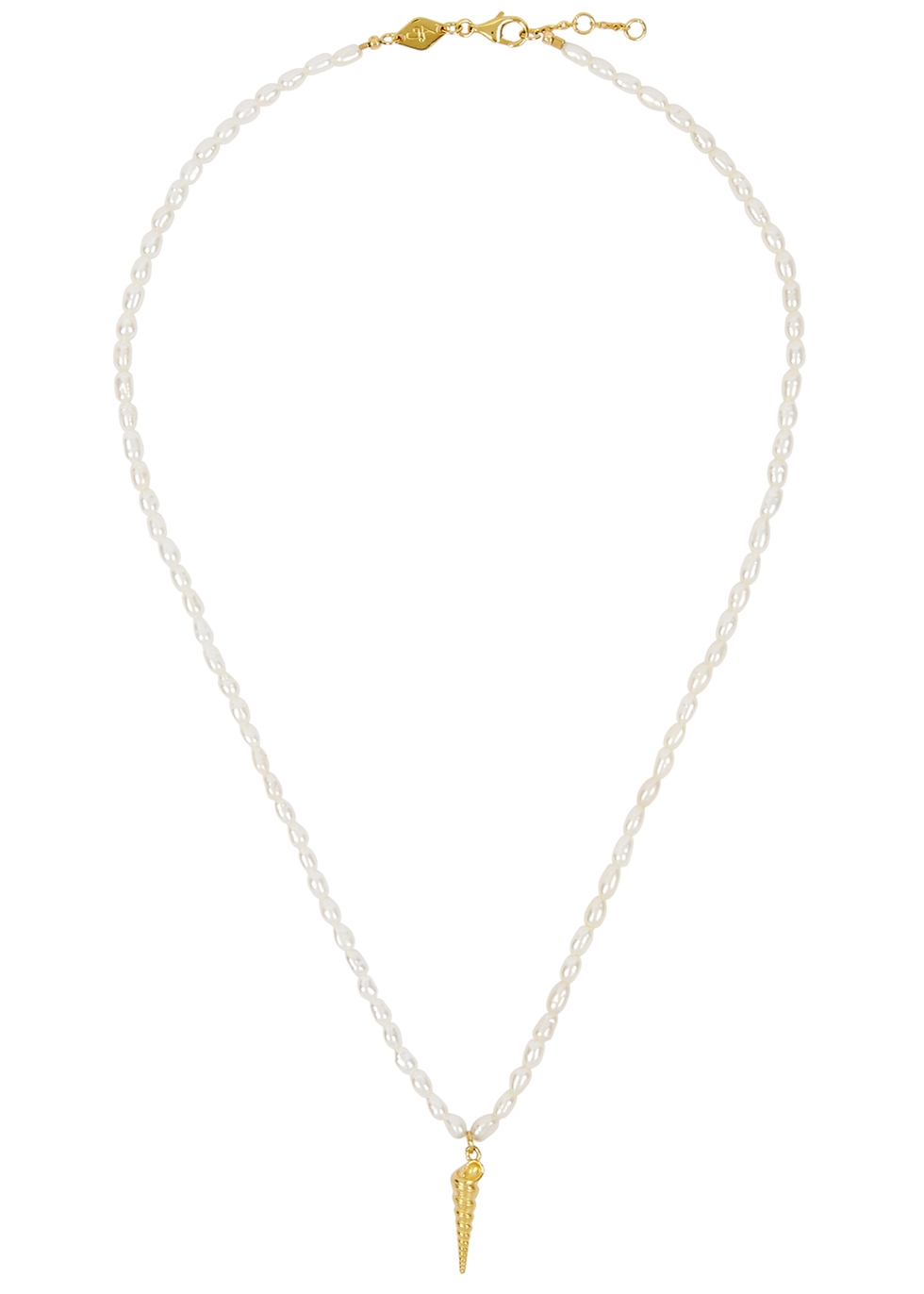 Turret Shell 18kt gold-plated necklace - ANNI LU