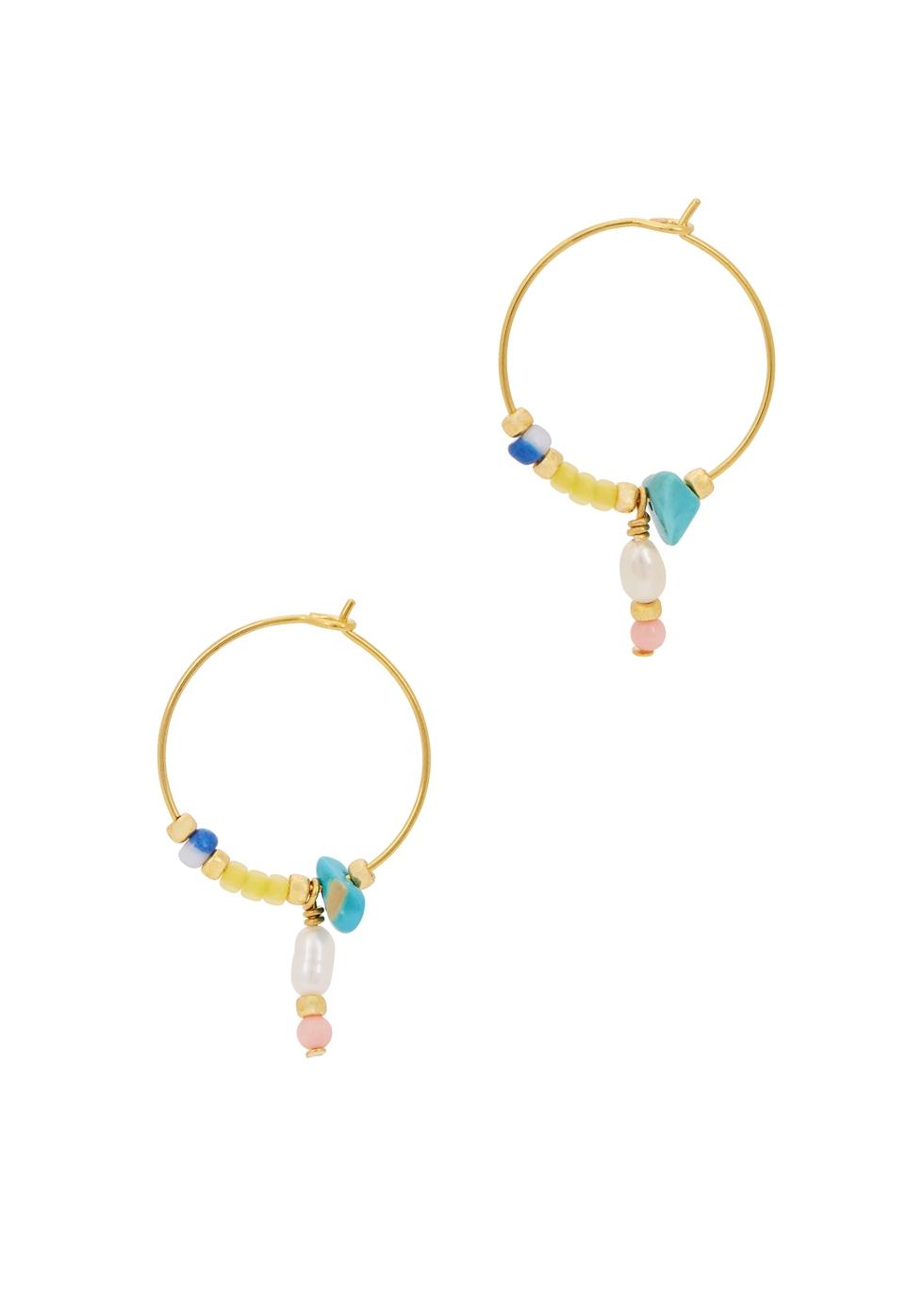 Hanalei 18kt gold-plated hoop earrings - ANNI LU