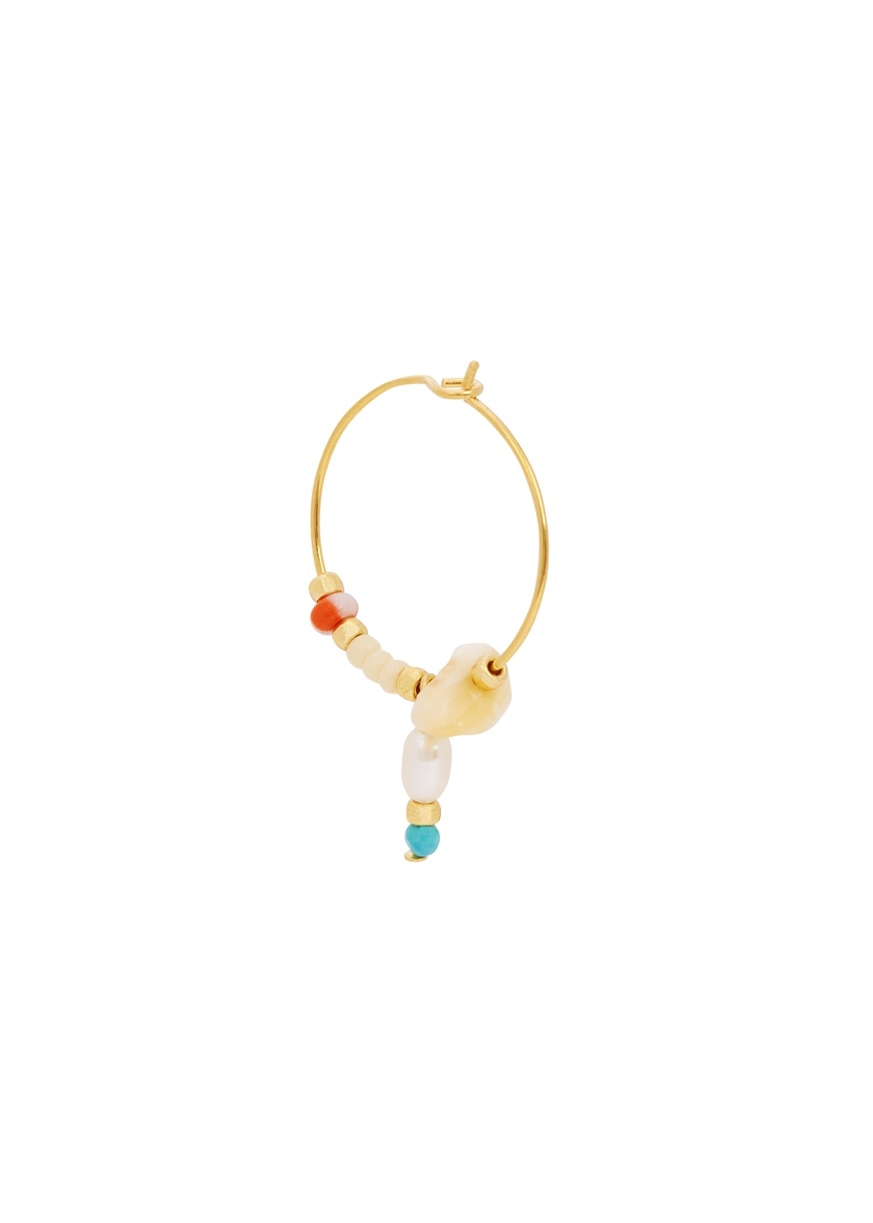 Hanalei 18kt gold-plated hoop earrings - ANNI LU
