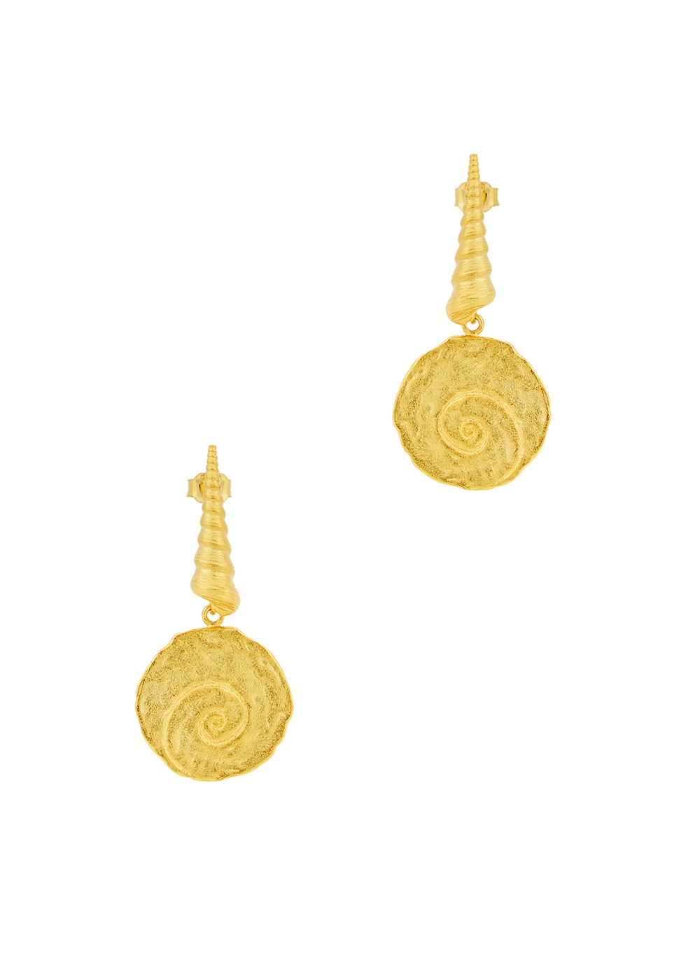 Large Shell 18kt gold-plated earrings - ANNI LU