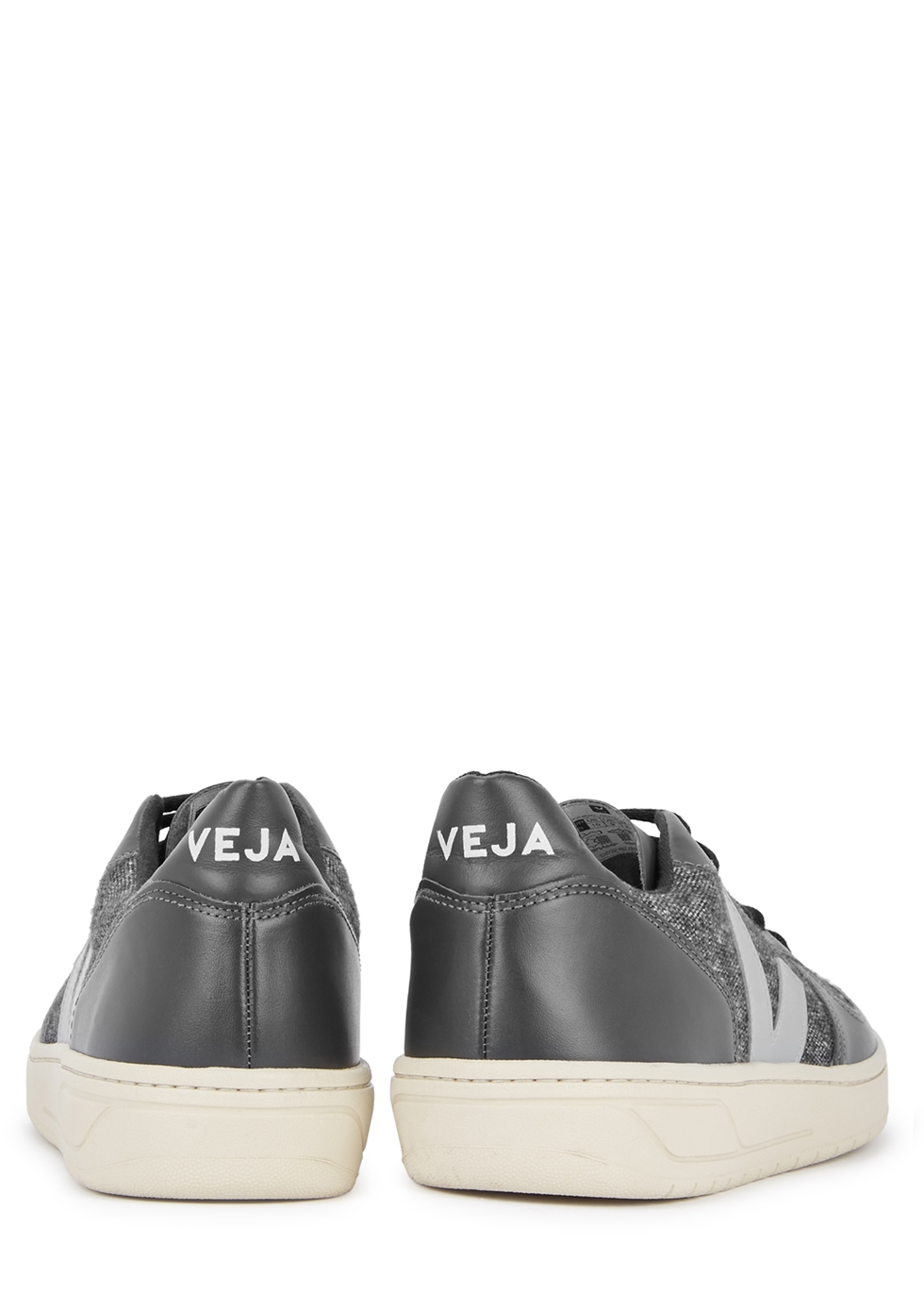 Grey flanel and leather trainers - Veja