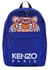 Blue tiger-embroidered canvas backpack - Kenzo