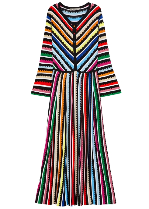 Mary Katrantzou Maya striped knitted maxi dress - Harvey Nichols 65190e50f