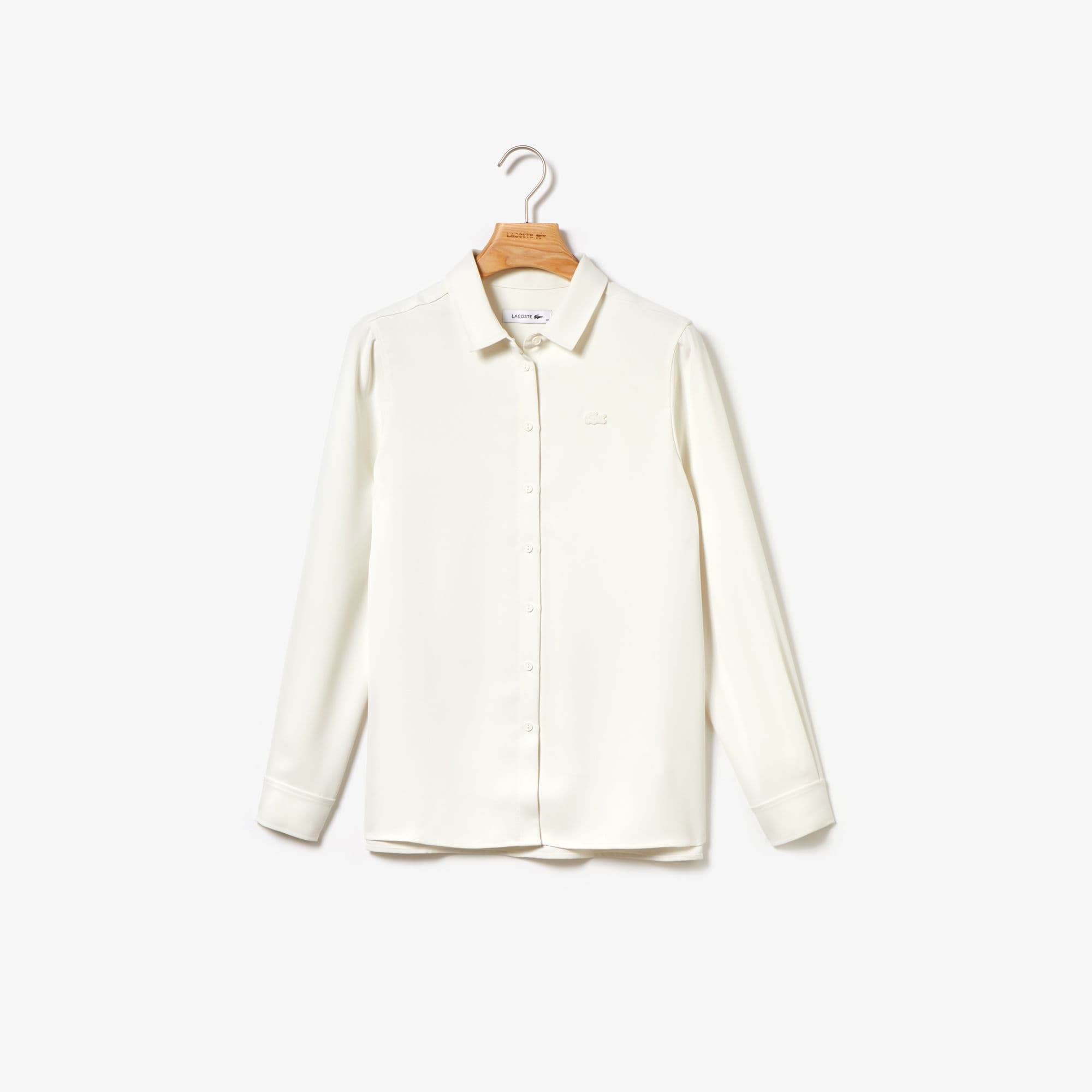 LACOSTE | Lacoste Lacoste - Womens Long Sleeves Woven Shirt | Goxip