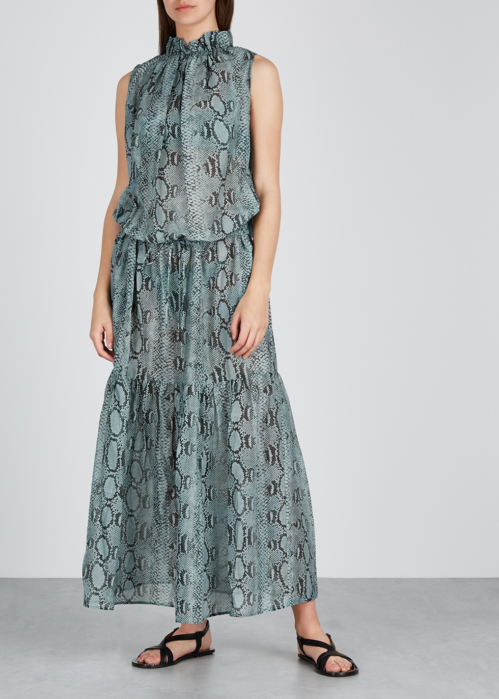Timeless printed cotton-blend maxi dress - Stella McCartney