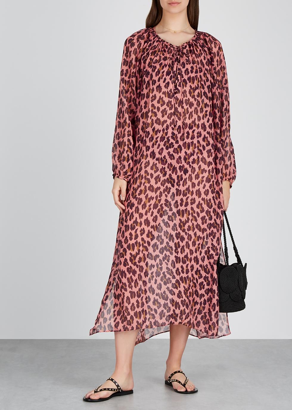 Ballet leopard-print silk kaftan - Stella McCartney