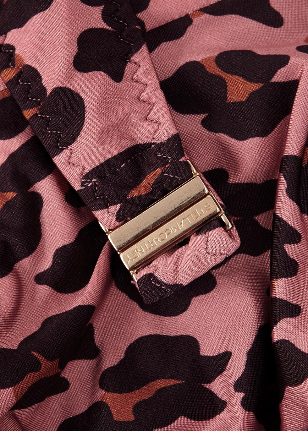 Ballet leopard-print bandeau bikini top - Stella McCartney