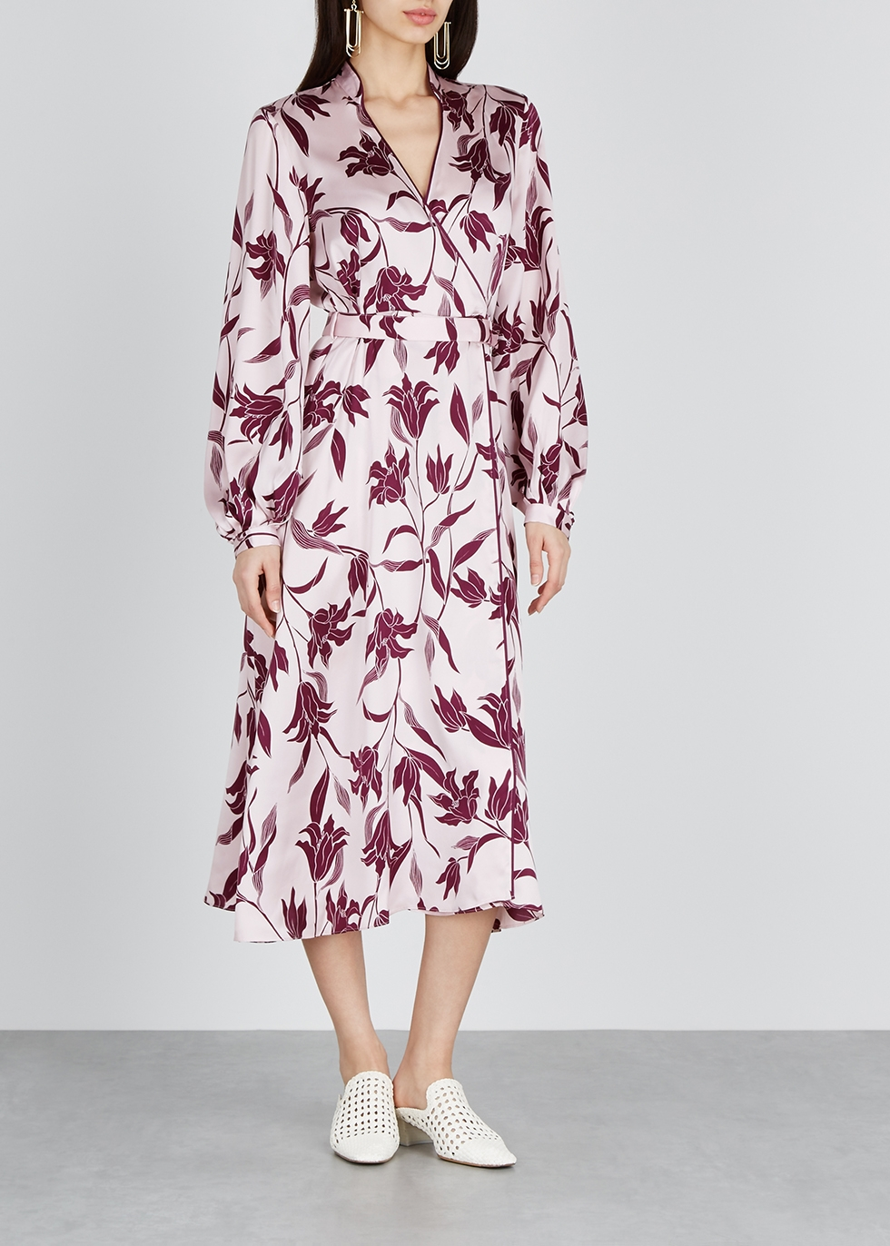 Andrese floral-print silk midi dress - Equipment