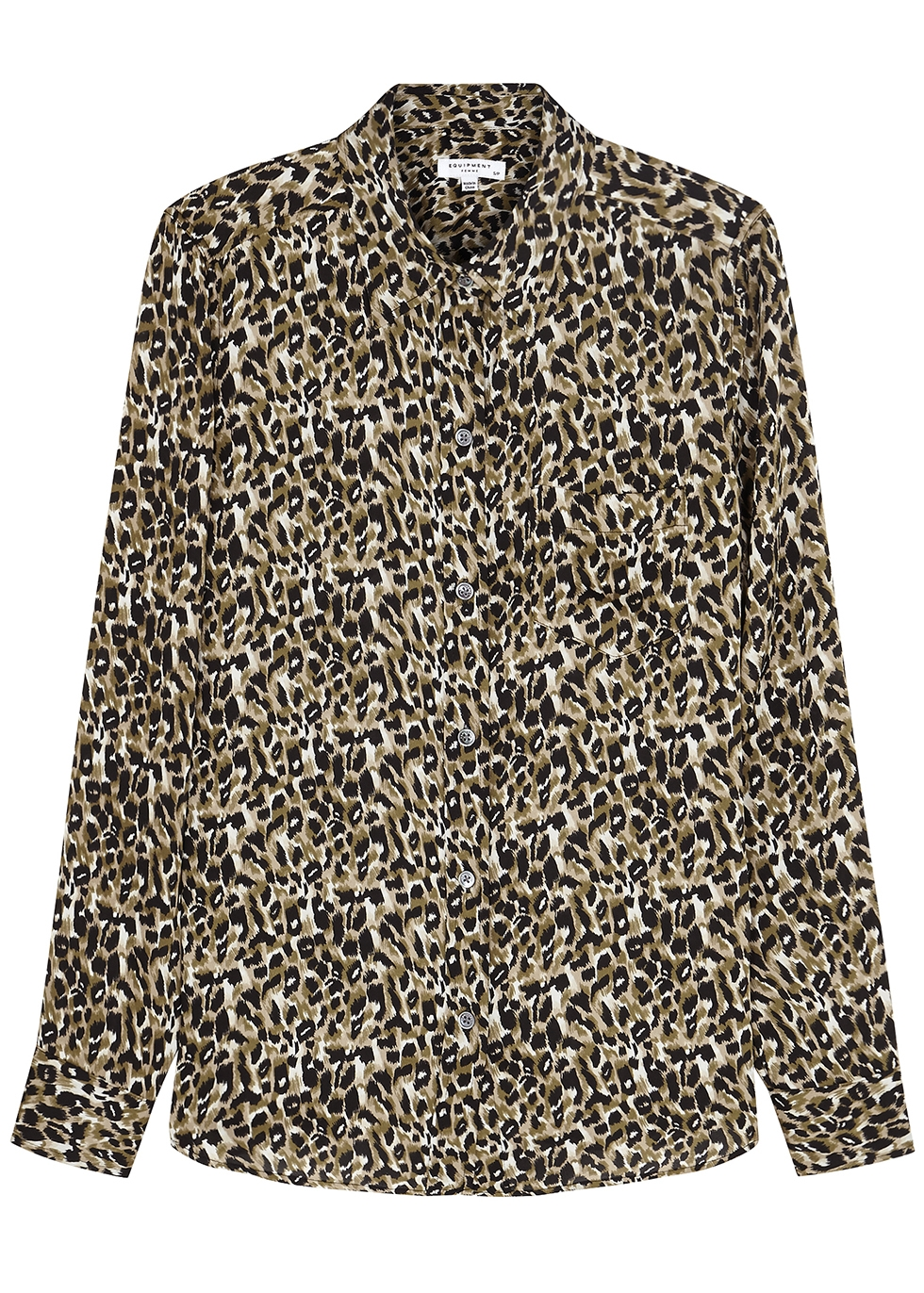 Brett leopard-print matte satin shirt - Equipment