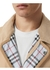 Monogram leather detail cotton gabardine jacket - Burberry