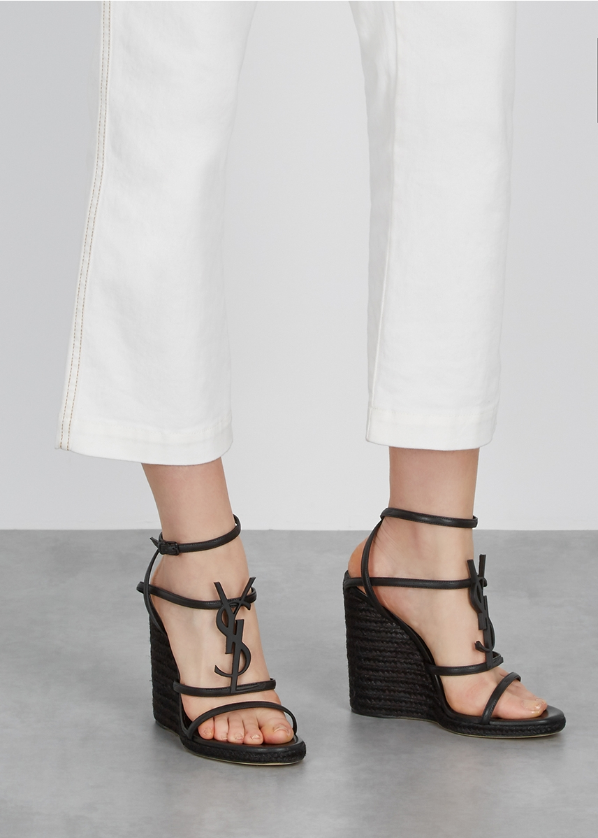 20846229448 Cassandra 105 black leather sandals Cassandra 105 black leather sandals.  New Season. Saint Laurent