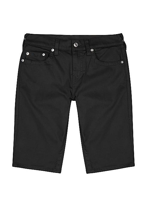 5112610e5f True Religion Rocco black denim shorts - Harvey Nichols