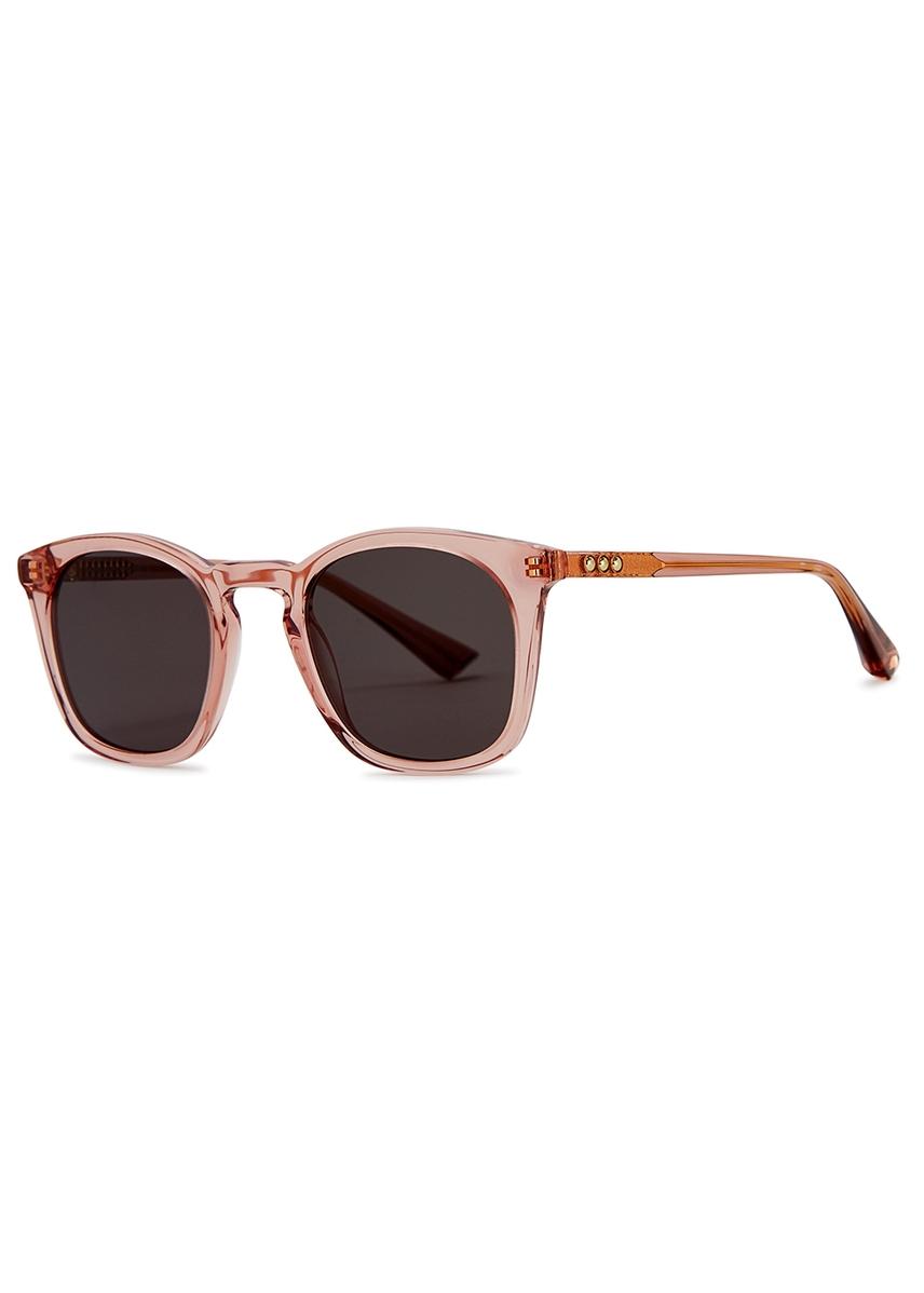f7cf16ef4b1 Louis Orson transparent pink wayfarer-style sunglasses