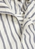 White striped hooded shirt - Loewe
