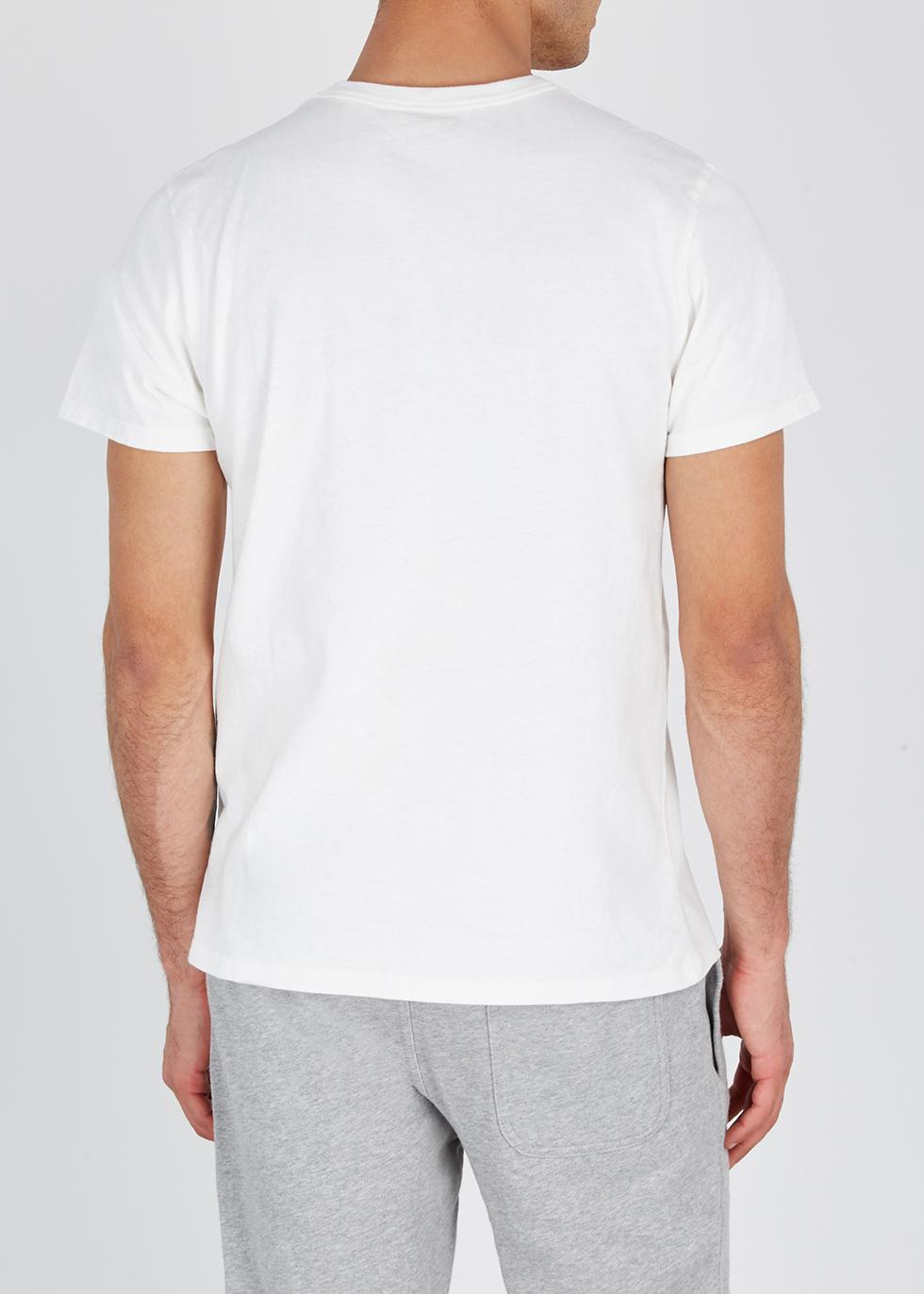 Parisien white cotton T-shirt - Maison Kitsuné
