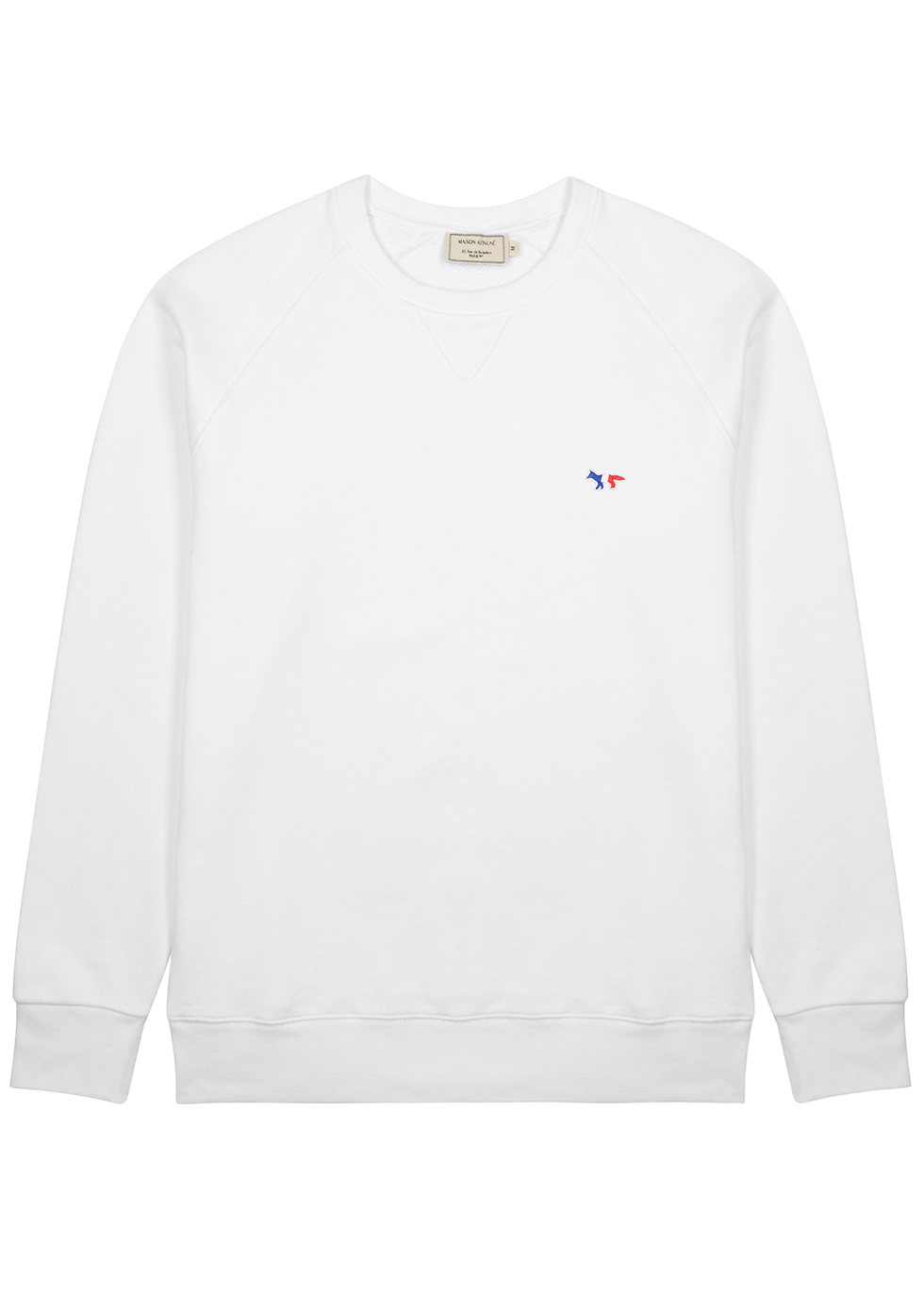 White cotton sweatshirt - Maison Kitsuné