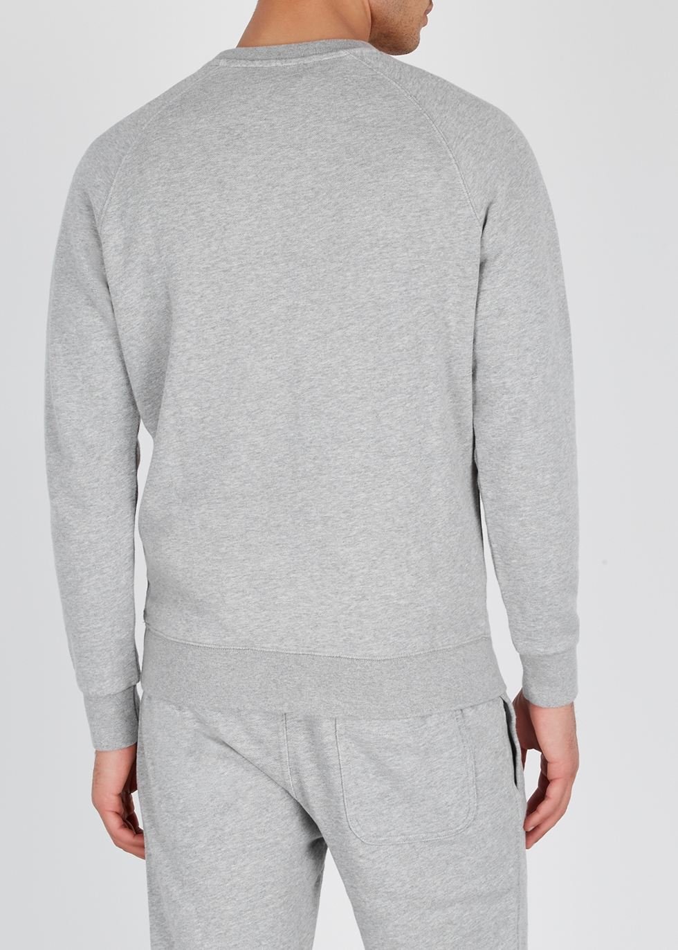 Light grey cotton sweatshirt - Maison Kitsuné