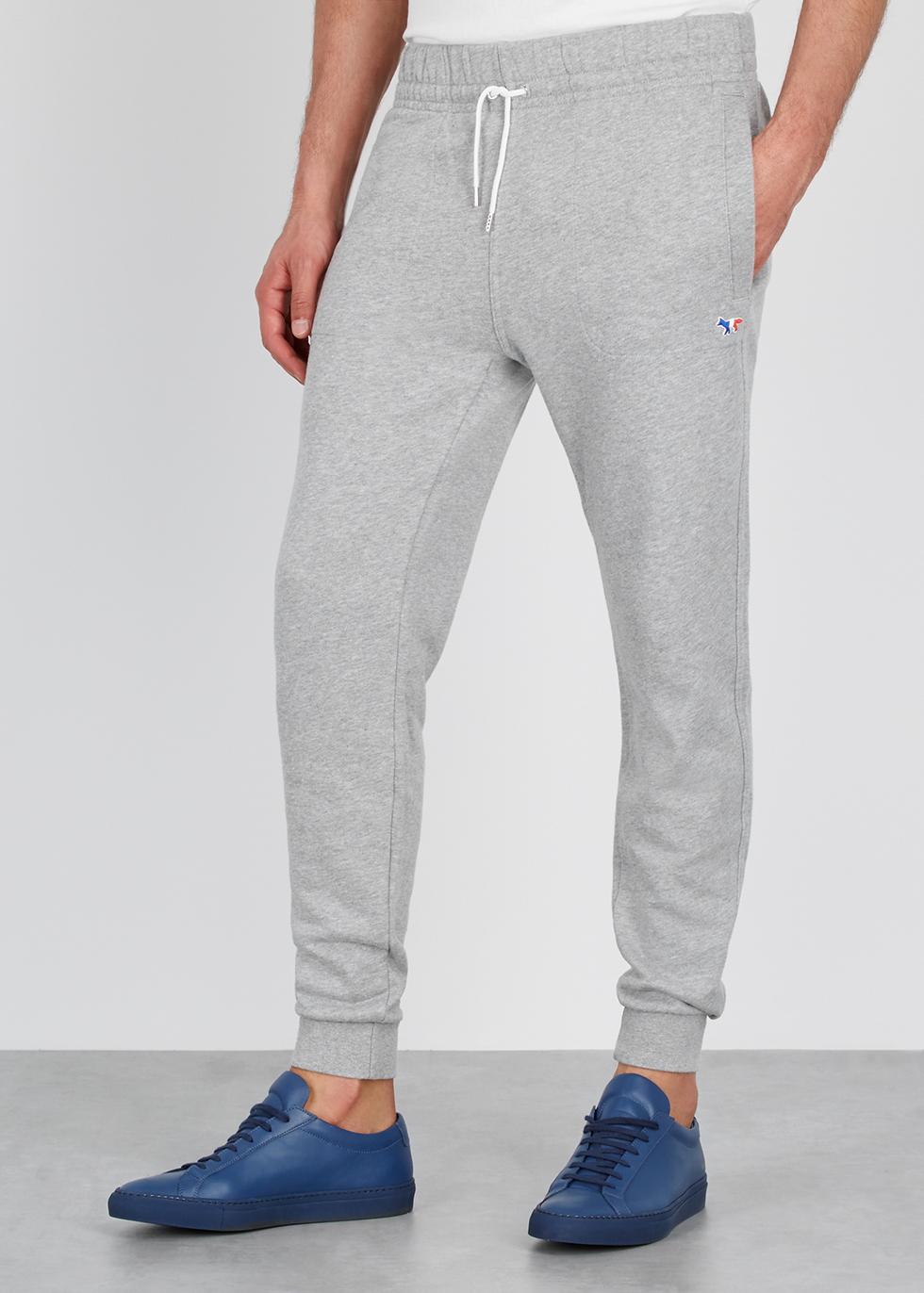 Light grey cotton sweatpants - Maison Kitsuné