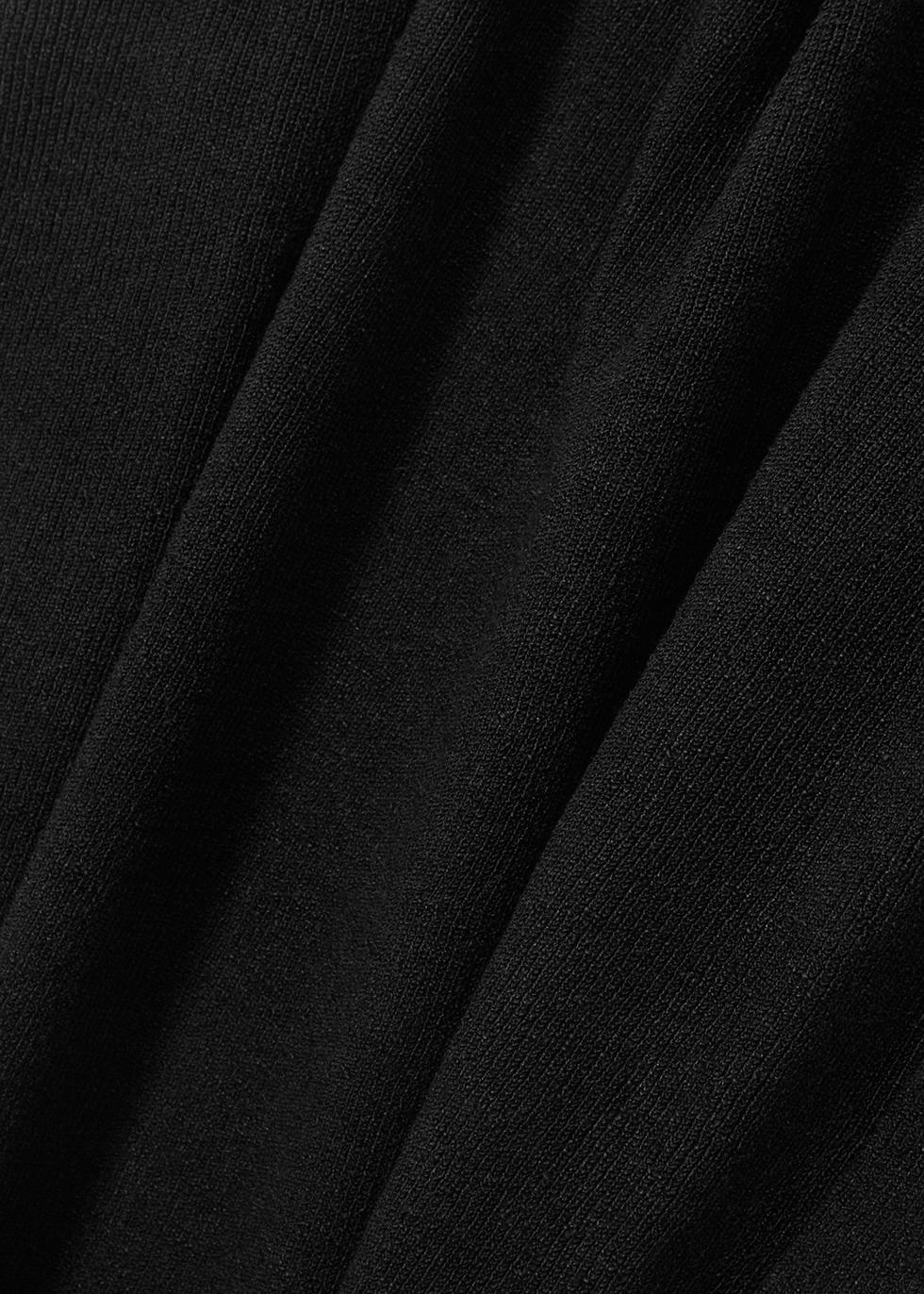 Black knitted linen-blend jumper - EILEEN FISHER