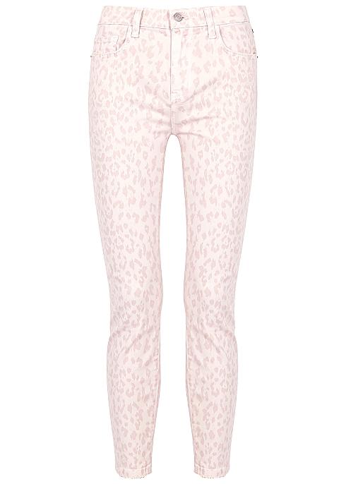 28129cea8bf2 Current/Elliott The High Waist Stiletto leopard-print jeans - Harvey ...