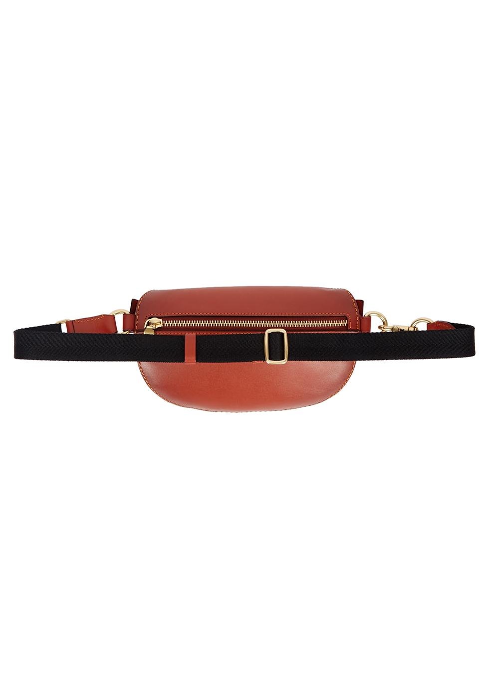 Brown leather belt bag - Coach
