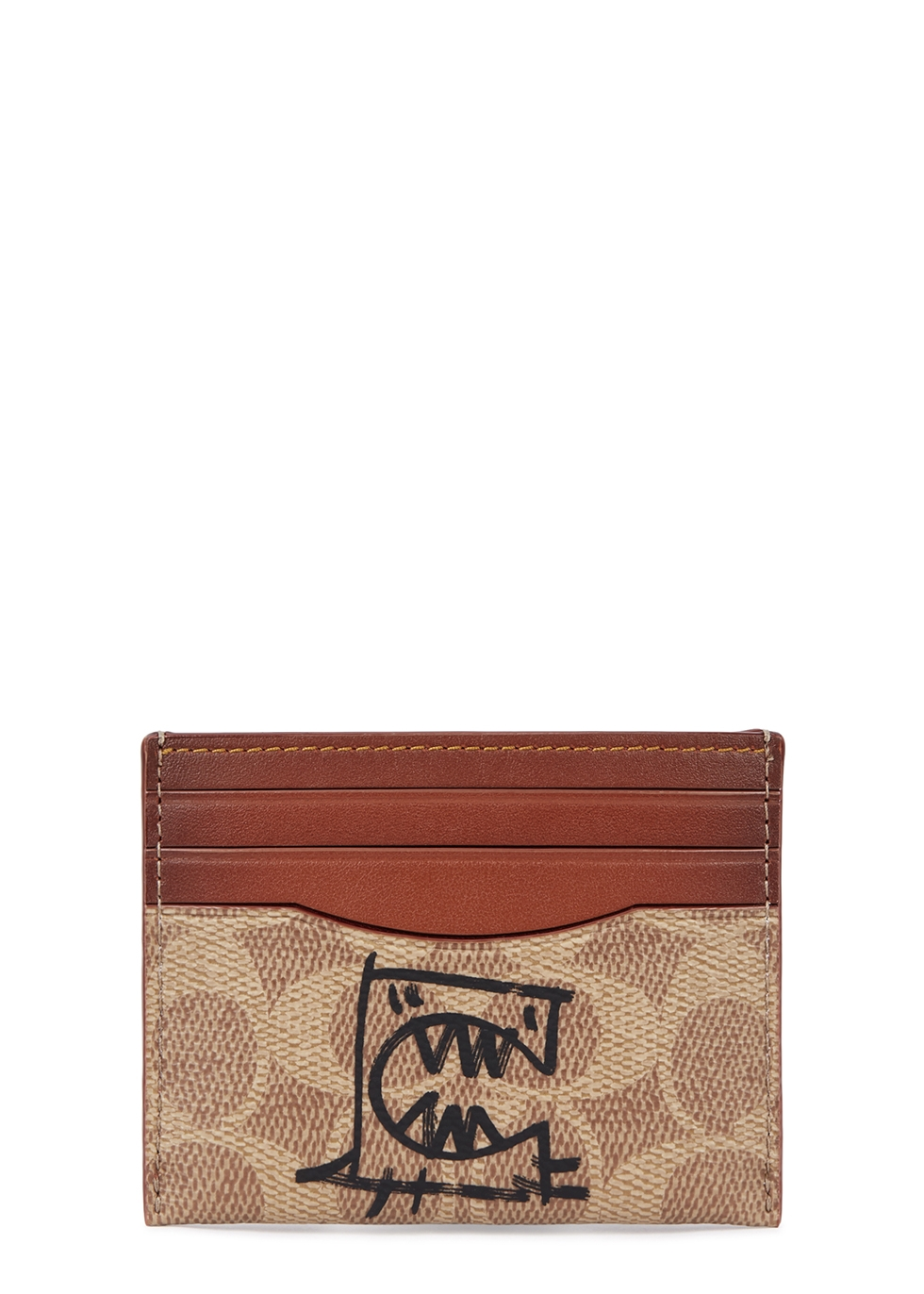 COACH | Coach X Guang Yu Monogrammed Leather Card Holder | Goxip