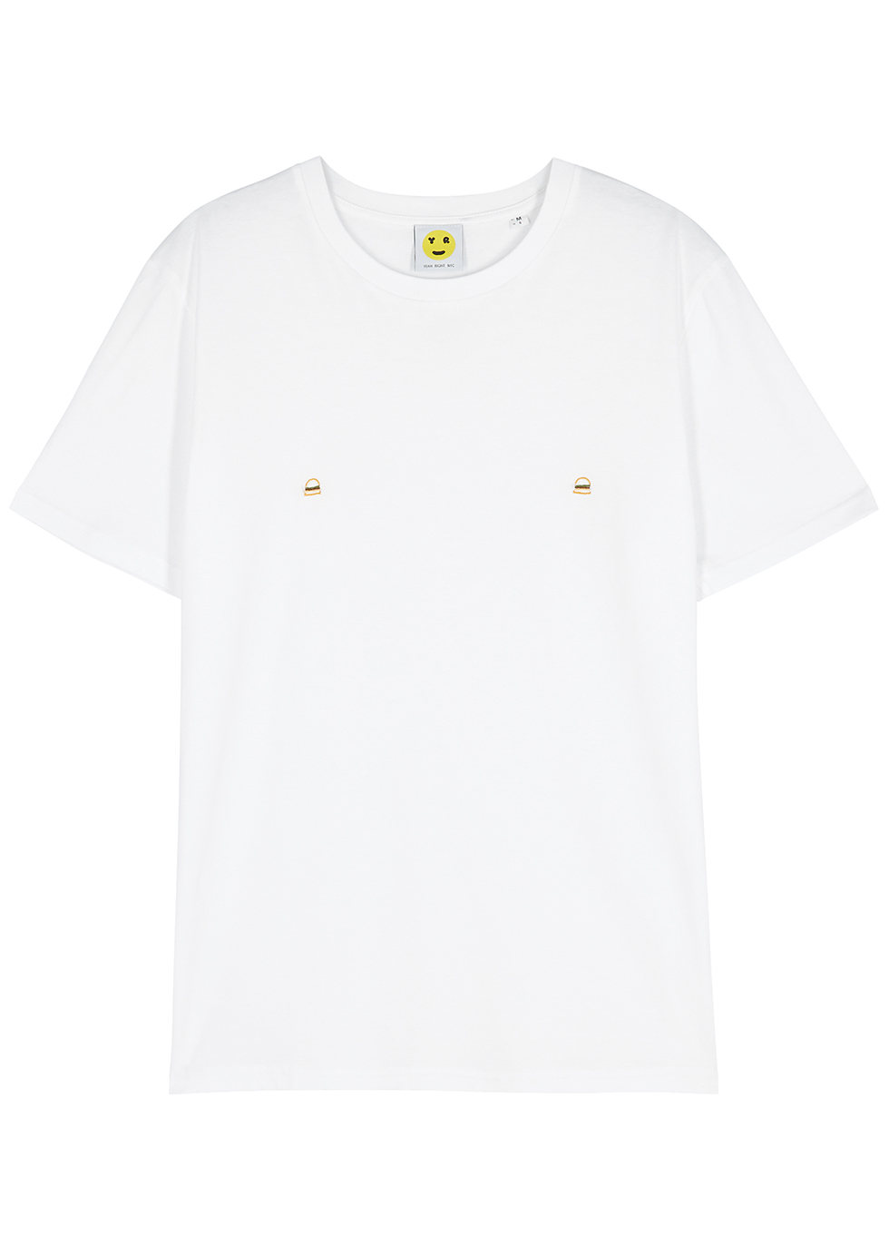 Burger Nips white cotton T-shirt
