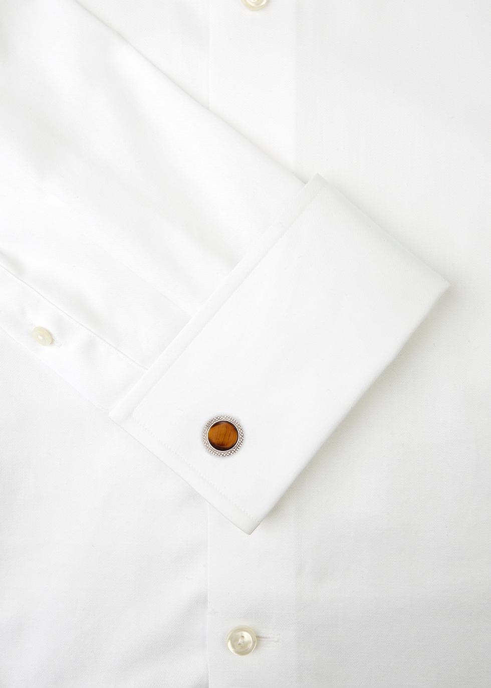 Bullseye sterling silver cufflinks - Tateossian